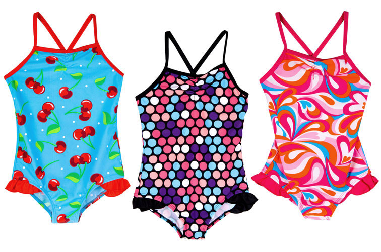 Girls Swimwear Print and Pattern