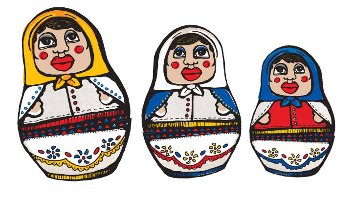 Nesting Doll Illustration
