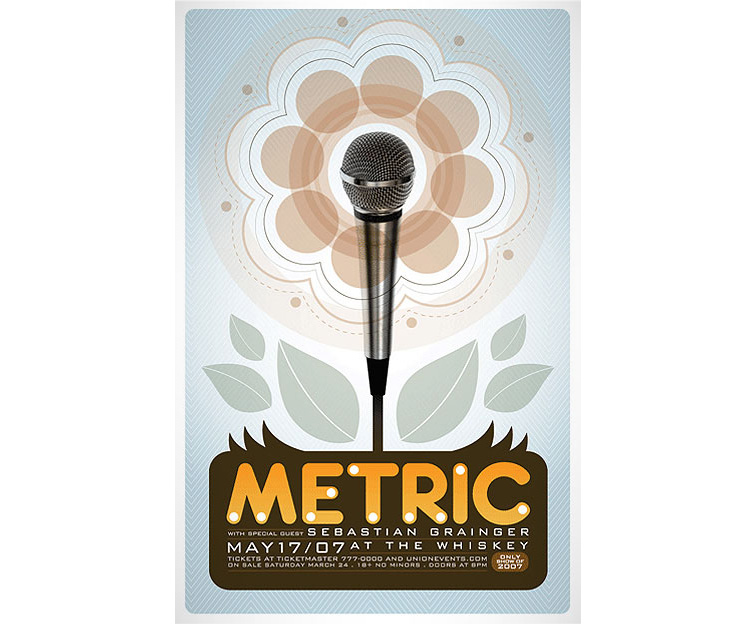 Metric at the Whisky Poster