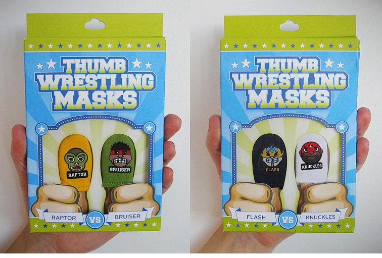 Please Mum - Thumb Wrestler Toys and Packaging